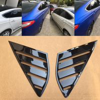 2PCS ABS Car Sticker Rear Side Window Louvers Scoop Cover Vent for Ford Fusion Mondeo 2013 2018 2014 2015 Side Blinds Decoration