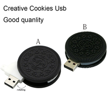 HOT Cute Oreo Pen Drive 4GB Food Usb Stick 8GB Biscuits Usb Flash Drive 16GB Cookies