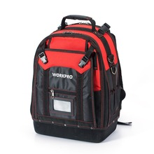 WORKPRO 2017 New Tool Backpack Tradesman Organizer Bag Waterproof Tool Bags Multifunction knapsack with 37 Pockets