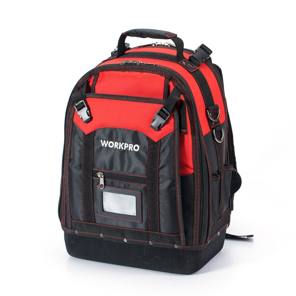 Us 53 99 40 Off Workpro New Tool Backpack Tradesman Organizer Bag Waterproof Bags Multifunction Knapsack With 37 Pockets In From