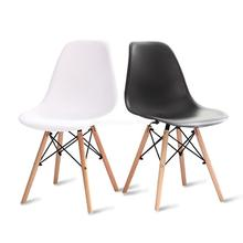 Современный минималистичный домашний обеденный стул с спинкой в скандинавском стиле, креативное настольное кресло, Простой пластиковый обеденный стул