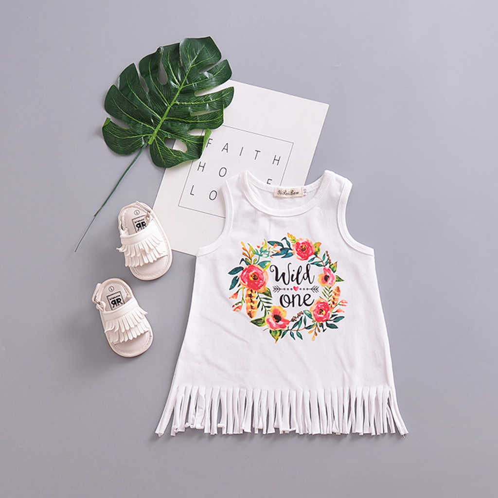 ... Summer 2018 New Casual Style Fashion Cute Baby Girls Princess Beach  Dress Letter Casual Sundress Clothes ... d79148aba4d2