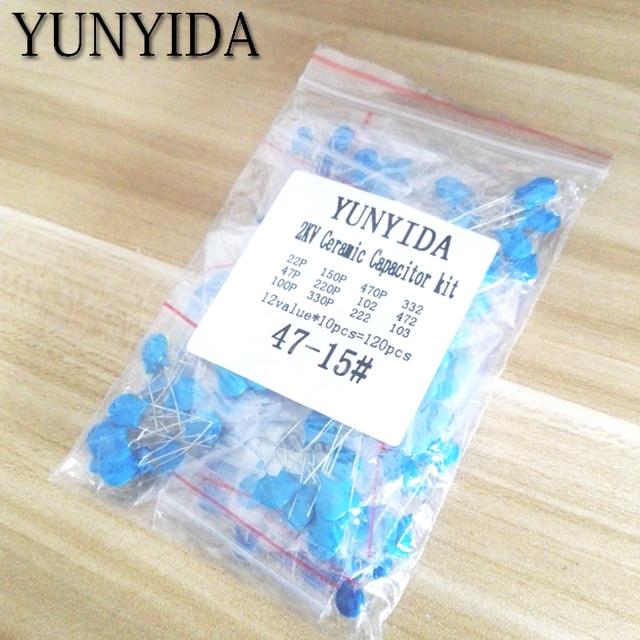 DIY KIT 120pcs=12value*10pcs  2KV Ceramic  capacitor  KIT  2KV 22P 47P 100P 150P 220P 330P 470P 102 222 332 472 103 EACH  10PCS