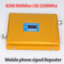 Для России модель 980 мощность 30 дбм усиление 65dbi ЖК дисплей двойной полосы GSM + 3 Г повторитель двойной полосы booster WCDMA ретранслятор