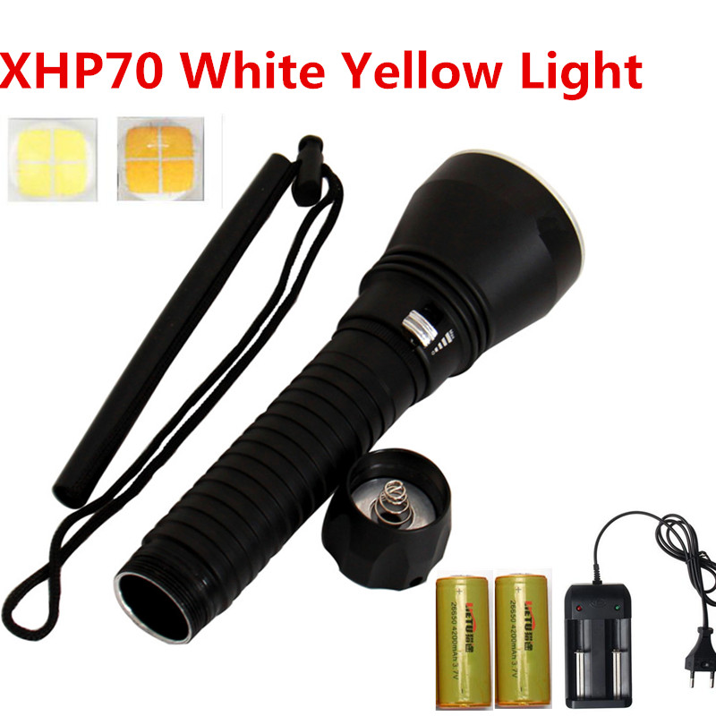 Waterproof Scuba Diving Flashlight Tactical 26650 Torch Powerful Cree Xhp70 7000lm Led Underwater Flash Light Dive dji phantom 3 battery charging hub power management for phantom3 series charger original accessories