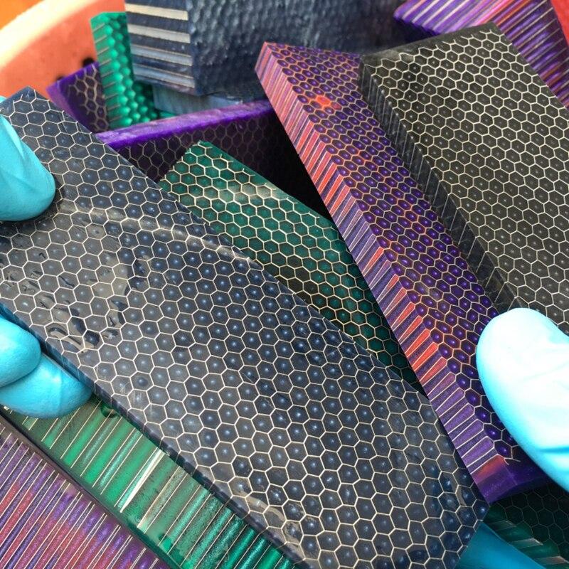 C-Tek Knife Handle DIY Material Plate Resin Material Snake Grain Honeycomb Pattern Slingshot Handle