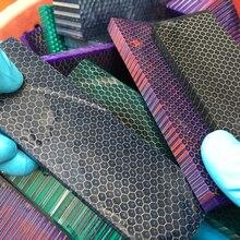C-Tek Knife handle DIY material plate Resin Snake grain Honeycomb pattern Slingshot