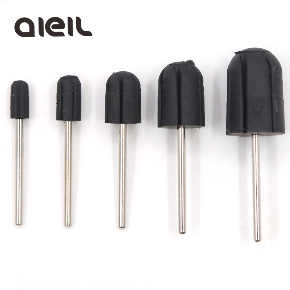 5*11 7*13 10*15 13*19 16*25 Nail Drill Bits Sanding Bands Block Caps Cutters For Manicure Rubber Nail Sanding Caps For Pedicure
