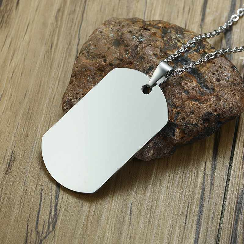 Mens Personalized Dog Tag Necklace Husband Boyfriend Gift for Dad Stainless Steel Custom DogTags