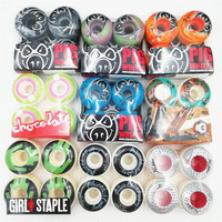 USA BRAND GIRL PIG 4pcs/Set Pro 50&52&53&54&55mm USA color changed Skateboard Wheels for Ruedas Patines Plastic Rodas Skate