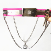 2018 Female Y Type Adjustable Stainless Steel Chain Invisible Chastity Belt Device Prevent Masturbation Shield BDSM Sex Toy 3 Co
