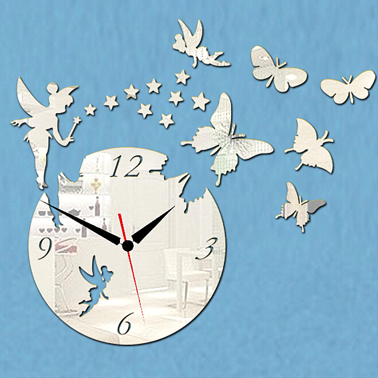 2016 new arrival 3d home decor quartz diy wall clock clocks horloge watch living room metal