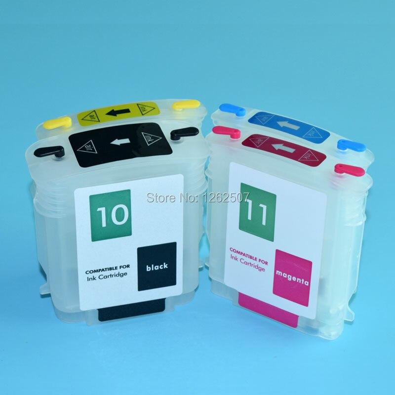 10 11 nachfüllbare tintenpatrone mit chip für hp designjet 100 110 70...