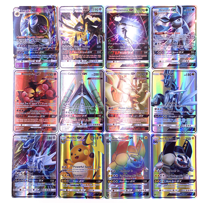 200 Pcs 25 50pcs GX MEGA Shining Cards Game Battle Carte 100pcs Trading Cards Game Children Pokemons Toy