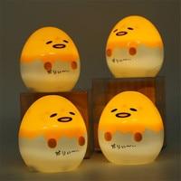 Anime Japanese Gudetama Egg Light Up Juguetes Lazy Egg Gudetama PVC Action Figure Brinquedos Kids Toys