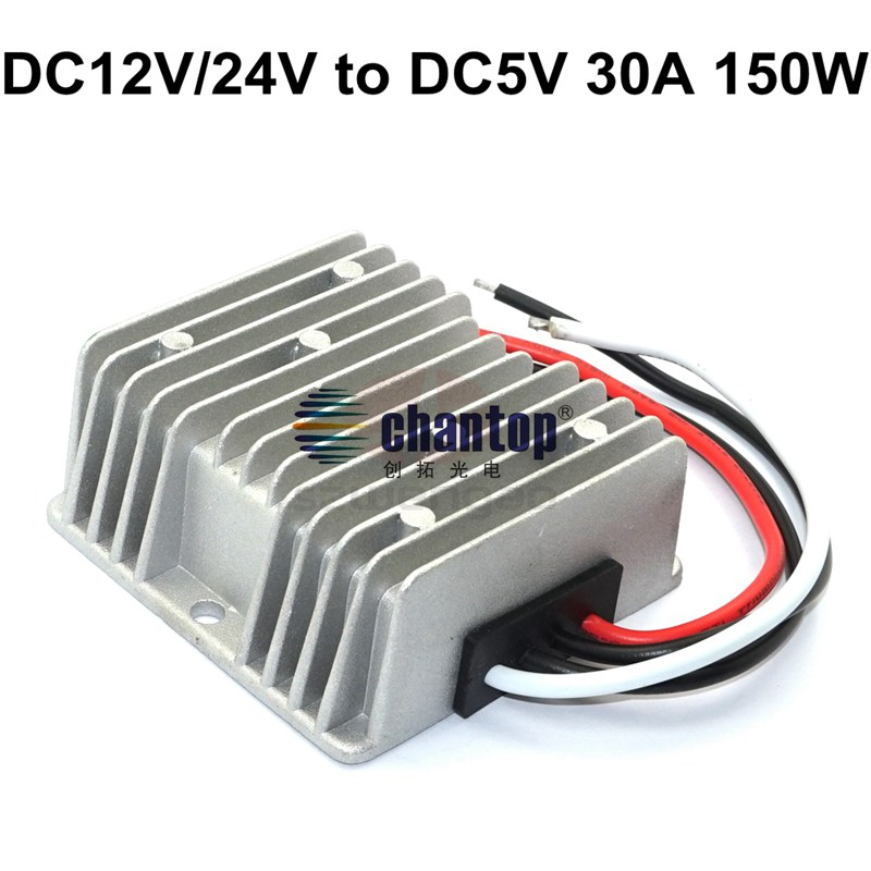 High Quality waterproof 12v 24v to 5V 30A 150W led power supply Car/bus Voltage DC to DC Converter Regulator Buck Module wavelets as a tool to approach power quality