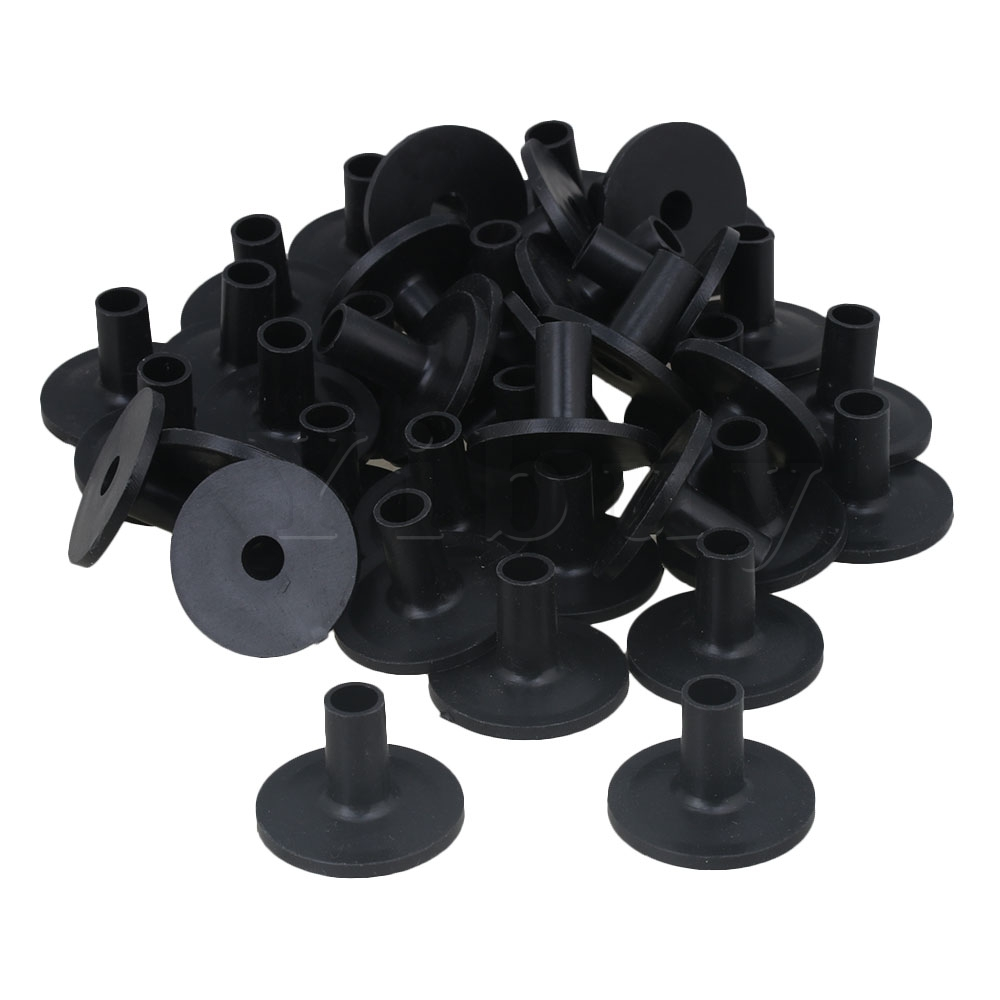 Yibuy 200 Pieces Black Plastic Cymbal Sleeves with Flange Base for Drum Set
