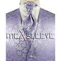 New arrival free shipping Men's Suit Tuxedo Dress lavender Vest (vest+ascot tie+cufflinks+handkerchief)