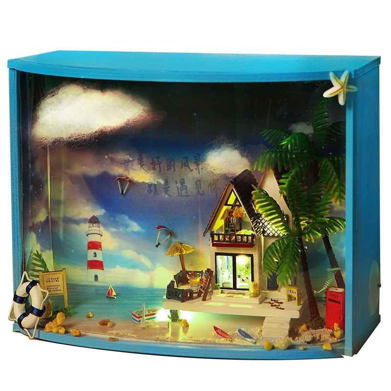 High Quality T-Yu TY1 Ultima Thule DIY Dollhouse With Light Miniature Model Gift Collect ...
