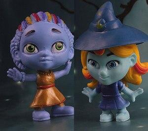 Image 3 - 6 יח\סט מפלצת דמויות צעצוע סופר בובת PVC אנימה פעולה איור דגם בובת צעצועי מתנה