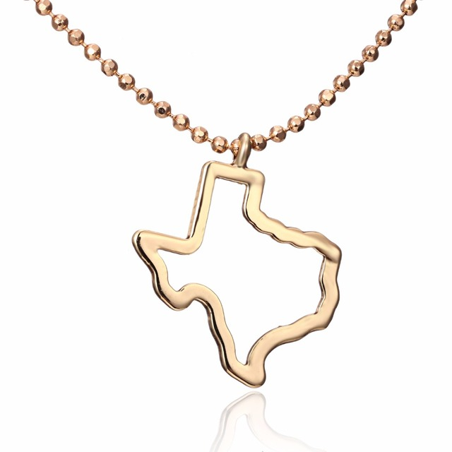Fashion america texas pendant necklace hollow out gold colors map fashion america texas pendant necklace hollow out gold colors map necklace copper usa outline state jewelry mozeypictures Images