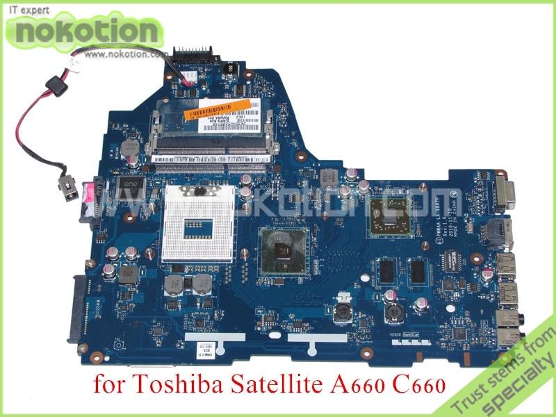 NOKOTION PWWAA LA 6847P Rev 1.0 MB K000114920 For toshiba satellite A660 C660 Laptop motherboard ATI HD 5430