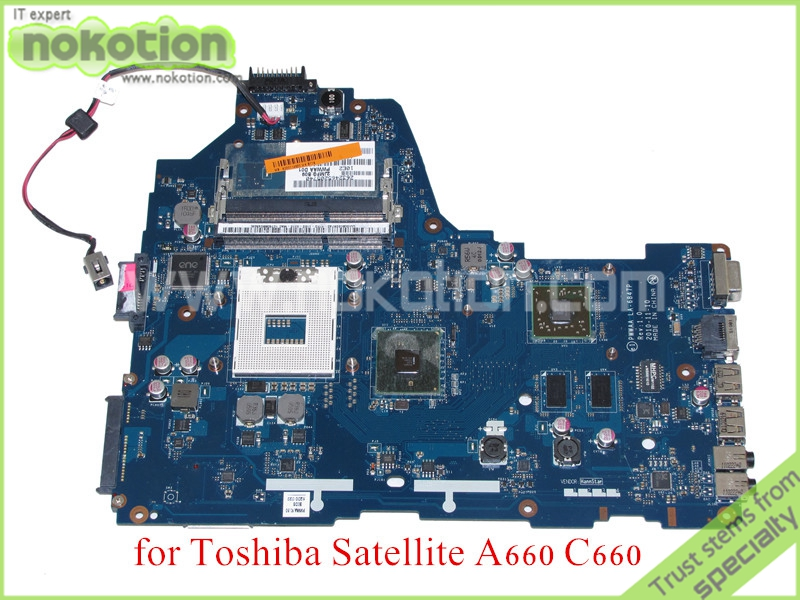 все цены на NOKOTION PWWAA LA-6847P Rev 1.0 MB K000114920 For toshiba satellite A660 C660 Laptop motherboard ATI HD 5430 онлайн