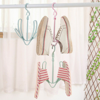 New Design Plastic Shoes Rack Organizer Shoe Hanger Clothes Hanging Drying Slippers Bathroom Space Saving Storage Shoe Slots