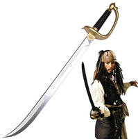 76cm/29.6inch Pirates of the Caribbean Captain Jack Sparrow Sword John Depp Cosplay Sword role play prop children safe toy/gift