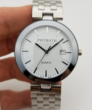 Nouveau mode horloge homme femme montre japonais quartz mouvement montre argent couleur acier inoxydable bande livraison gratuite