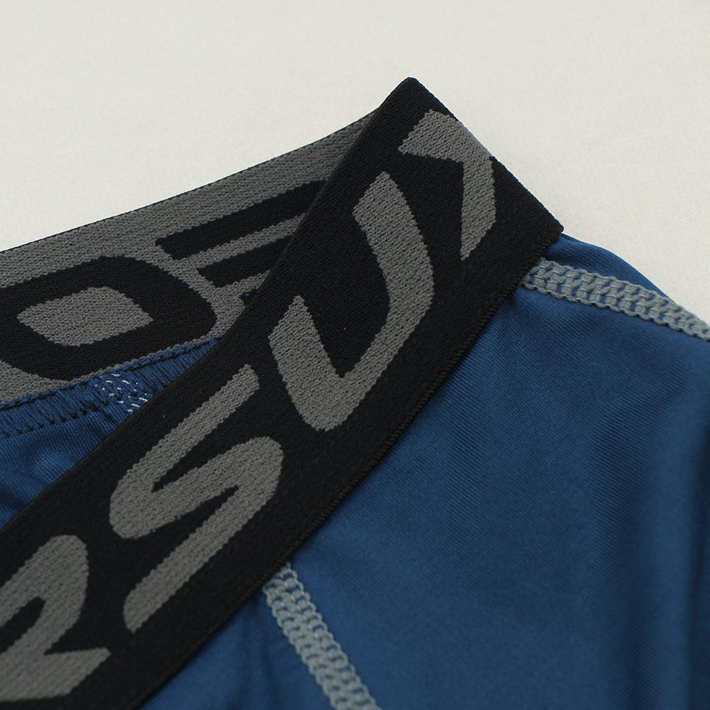 Meggings - leggings pour homme coupe 3/4 pantacourt de sport gym yoga bleu marine, zoom sur l'élastique