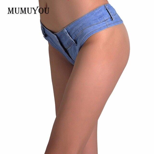 7c901072b Las mujeres verano botín Denim caliente pantalones vaqueros pantalones  cortos Vintage Micro Mini Sexy corto azul bikini Plus tamaño XS-4XL nuevo  ...