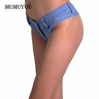 Women Lady Booty Denim Hot Pants Jeans Shorts Vintage Micro Mini Sexy Blue Newv 047 4913