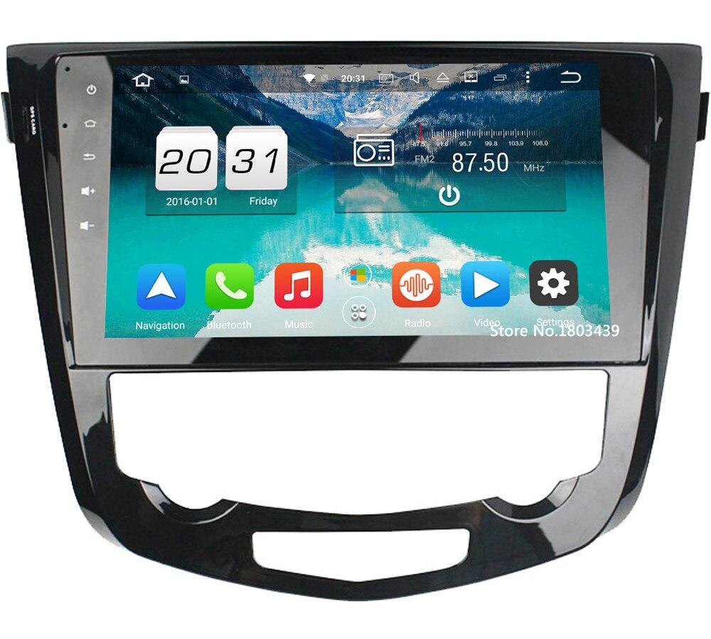 Octa Core 2GB RAM 32GB ROM Android 6.0.1 HD Car Radio GPS Navigation Player Camera Autoradio For Nissan Qashqai AT 2013-2016