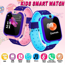 цена New baby Kids Smart Watch Music Game Smartwatch Waterproof Children Smart Watch SOS Baby Watch Play Game Music Watch Boys Girls онлайн в 2017 году