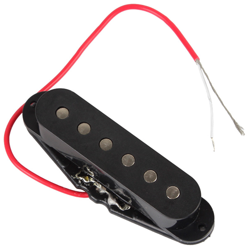 IRIN 6 Strings Electric Guitar Single Coil Sound Pickup with 190mm Cable Guitar Parts and Accessories kmise single coil pickup for electric guitar parts accessories bridge neck set black with chrome gold frame