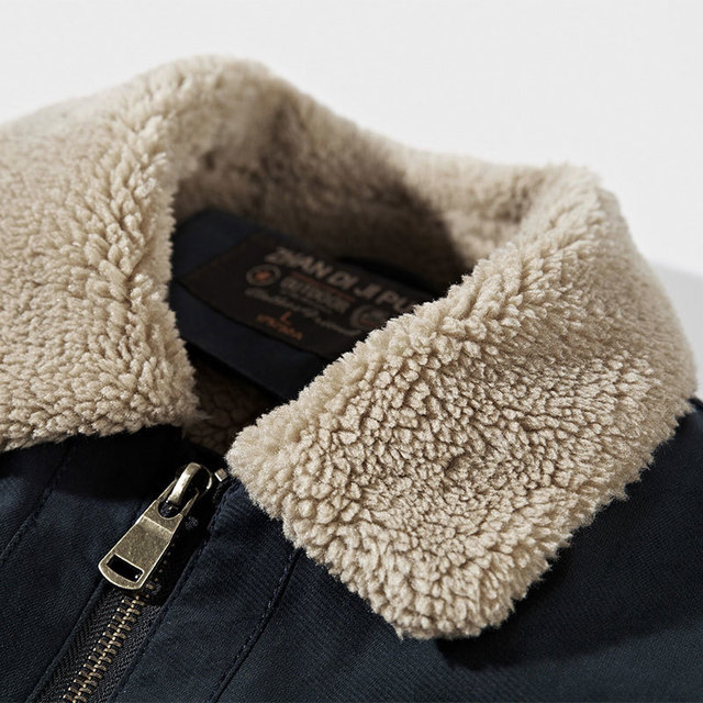 Men's Parkas Down Jacket Coats Clothes Fake Fur Collar Winter Long Sleeve Jackets Cotton Warm Classic Thicken Cargo Jackets