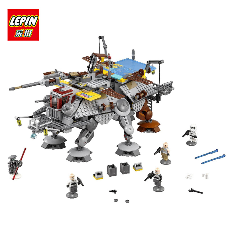 LEPIN 05032 1022Pcs Star Captain Rex's AT-TE 75157 War Building Blocks Bricks Toys for Children Gift Compatible with lego lepin 05032 star wars rex s at te model building kits compatible with lego city 3d blocks educational toys hobbies for children