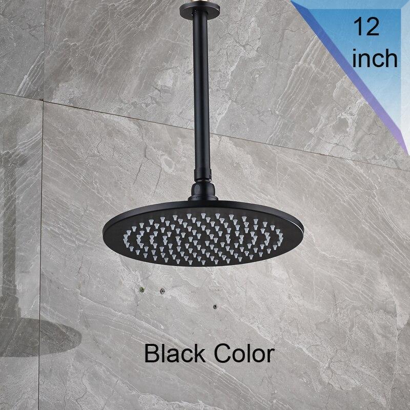 Syst/ème de douche Set de douche douche syst/ème de bain Robinet pluie Bronze Noir douche Robinet de baignoire for montage au plafond baignoire M/élangeur de douche salle de bains robinet de douche Haute