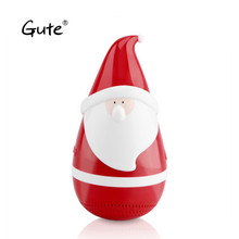Gute Mini Santa Claus Tumbler Bluetooth Speaker Roly-poly Carnival toy children Wireless Christmas Decoration Gift caixa de som(China)
