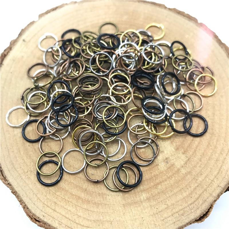 4/6/8/10 мм 500/300/200/100 шт Металлические разомкнутые кольца для прыжков Разделение кольца Разъемы для самостоятельного изготовления ювелирных изделий - Цвет: Mix Colors