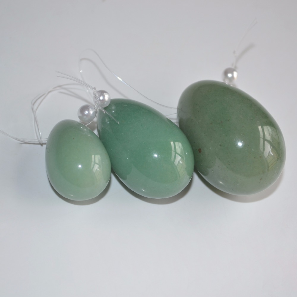 3Pcs In 1 Set Jade Eggs For Kegel Muscles Exercises Strengthen Pelvic Floor Muscles Ben Wa Ball Yoni Egg For Promotion Green 5 sets chinese jade eggs for kegel muscles exercises strengthen pelvic floor muscles ben wa ball yoni egg for promotion