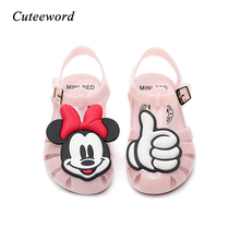 2019 New Kids Jelly Shoes for Boys and Girls Baby Beach Sandals Non-slip Soft Bottom Pvc Mini Cute Cartoon Children Girl