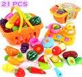 Plástico de Cocina Fruta Vegetal de Corte de Cocina Juegos de imaginación Juguetes Del Cabrito del Bebé Educativos Juguetes de Cocina Infantil Cosplay