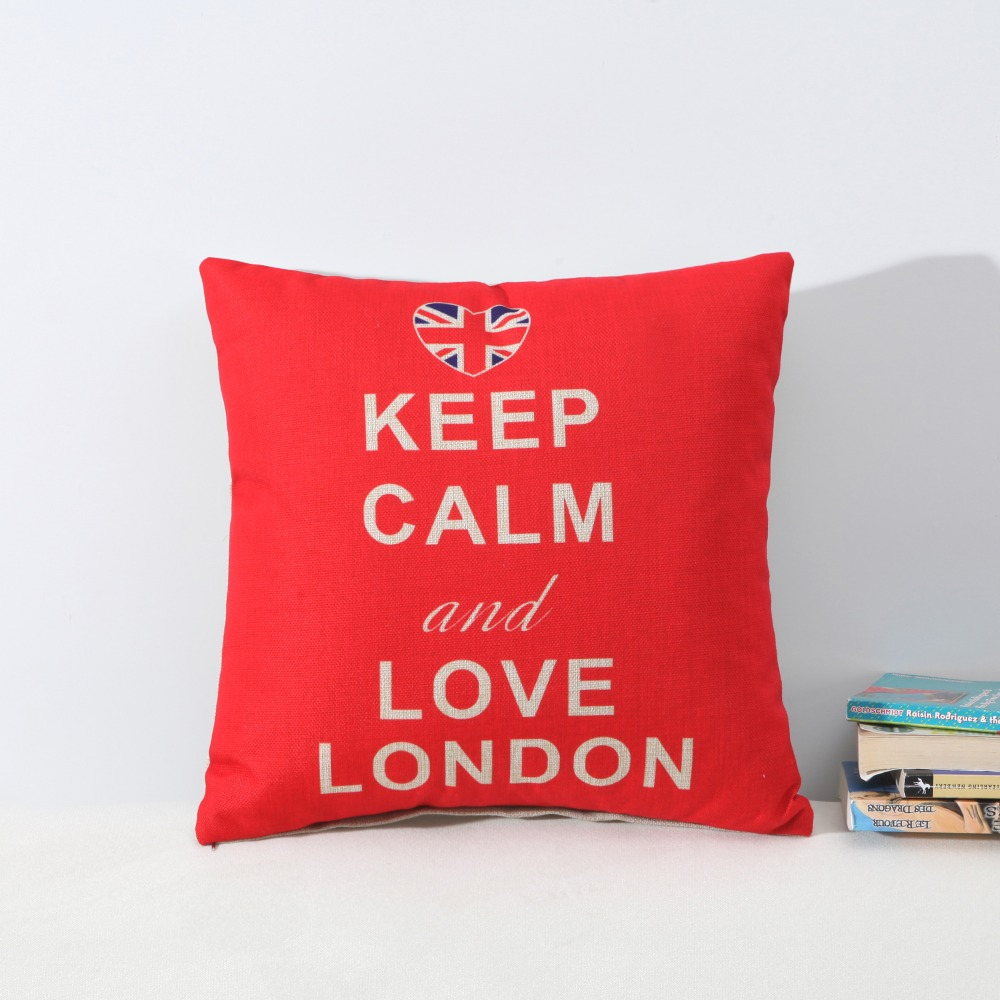 British Style Cushion Covers Soldiers Tower of London Cambridge Pillow Covers 45cm 45cm Linen Letters Decorative Cushion Covers in Cushion Cover from Home Garden