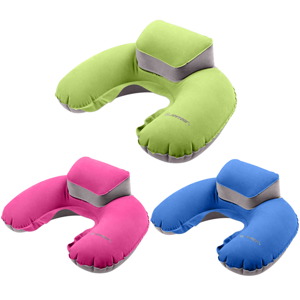 2017 Portable Travel Pillow Inflatable Neck Pillow U Shape Blow Up Neck Cushion PVC Flocking Pillow for Flight Travel