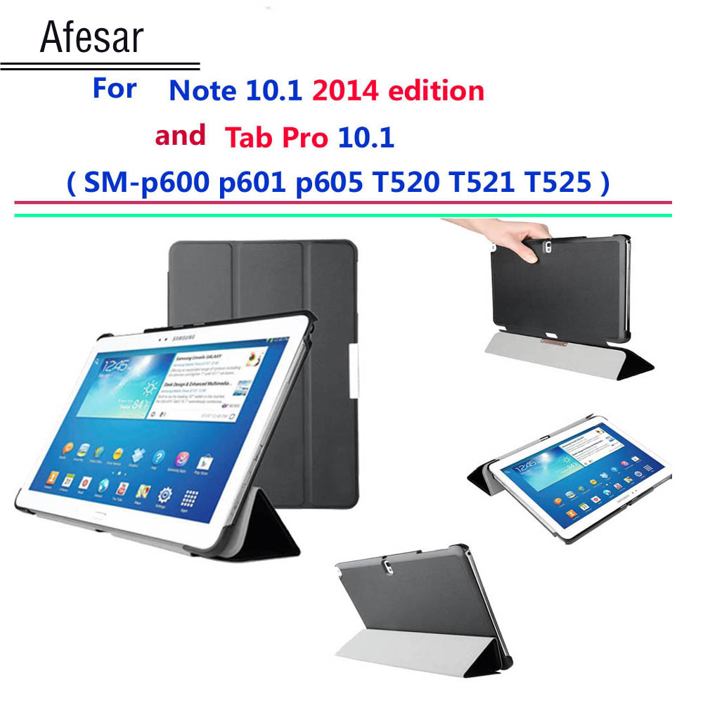 Afesar P600 P601 T520 521 penutup Ultra Slim untuk Samsung Galaxy Note 10.1 Edisi 2014 / Galaxy Tab Pro 10.1 smart case Auto Sleep