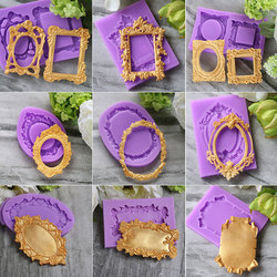 Cadre classique Silicone moule Fondant moule gâteau décoration outils chocolat Gumpaste moules, Sugarcraft, Gadgets de cuisine