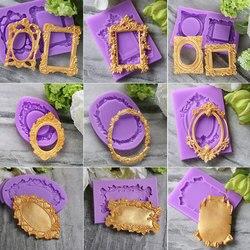 Ferramentas de decoração do bolo do molde do fondant do molde do silicone do quadro clássico moldes da gumpaste do chocolate, sugarcraft, gadgets da cozinha