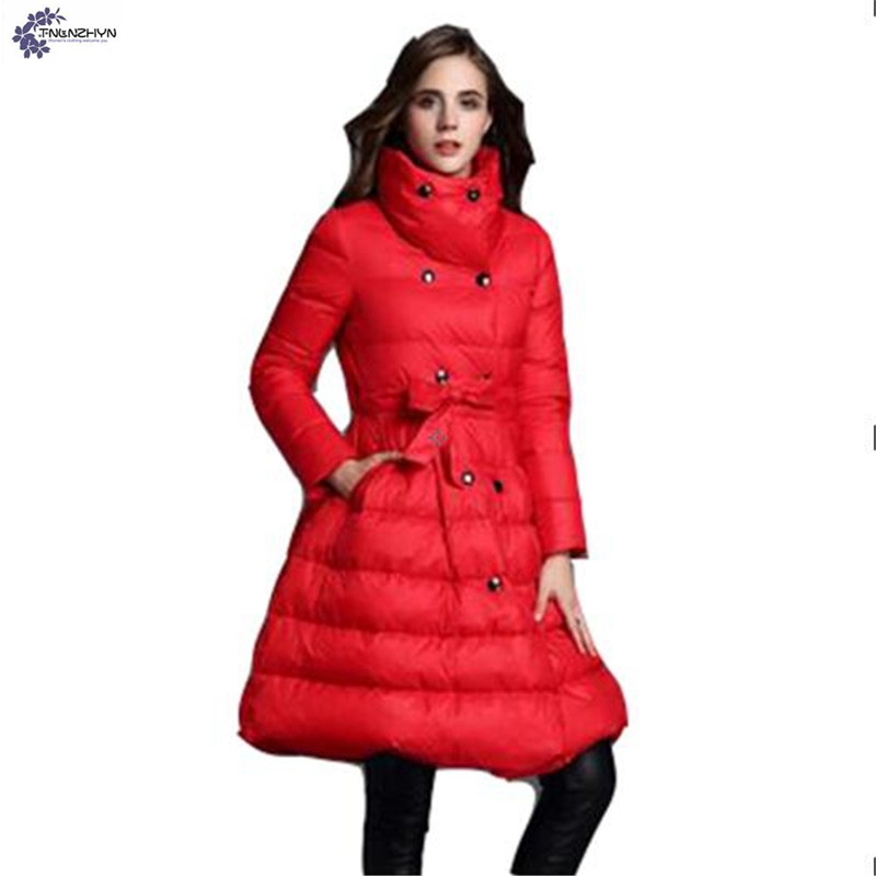 TNLNZHYN winter new Women clothing warm cotton coat fashion large size thicken Long sleeve casual female cotton Outerwear QQ260